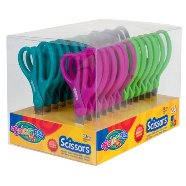 Nożyczki szkolne Colorino Kids z podziałką (34128PTR)