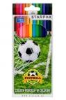 Kredki ołówkowe 12 kolorów - Football