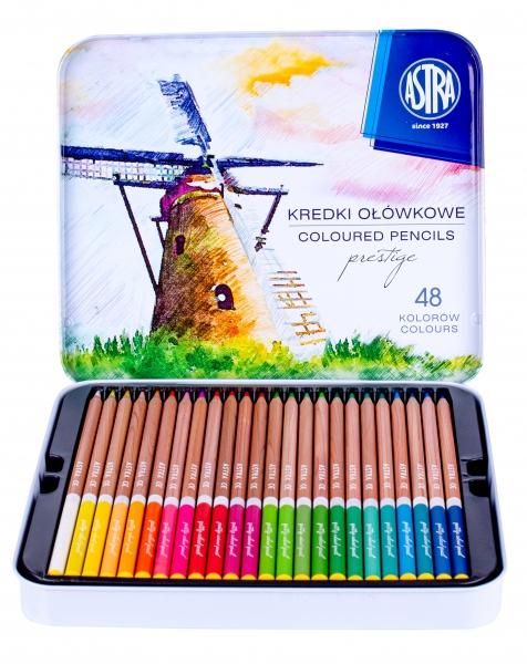 Kredki ołówkowe z drewna cedrowego Astra Prestige, 48 kolorów (450755)