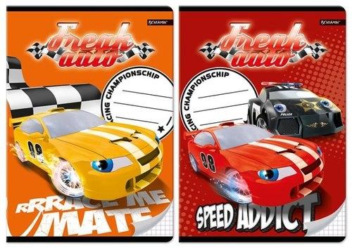 Zeszyt A5 Freak Auto w kratkę 16 kartek mix