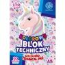 Blok rysunkowy Astra Bs & Unicorn A4 - kolorowy