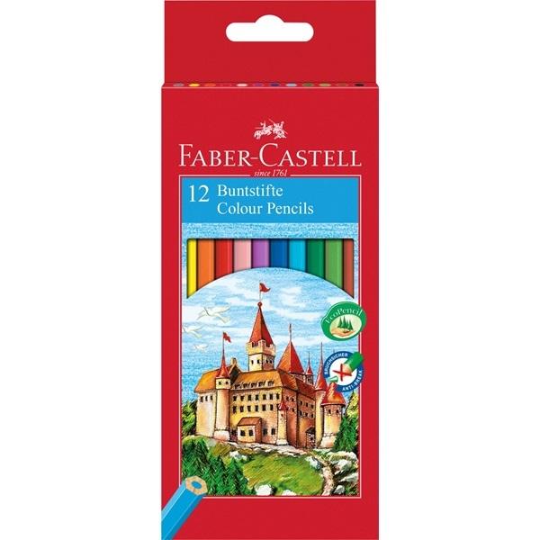 Kredki sześciokątne Zamek, 12 kolorów (111212)