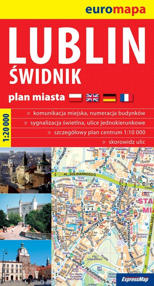 Lublin Świdnik papierowy plan miasta 1:20 000