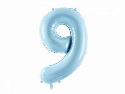 Balon foliowy Partydeco cyfra 9, j.niebieski 34cal (FB1P-9-001J)