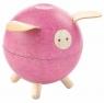Drewniana skarbonka świnka, różowa (PLTO-8612)