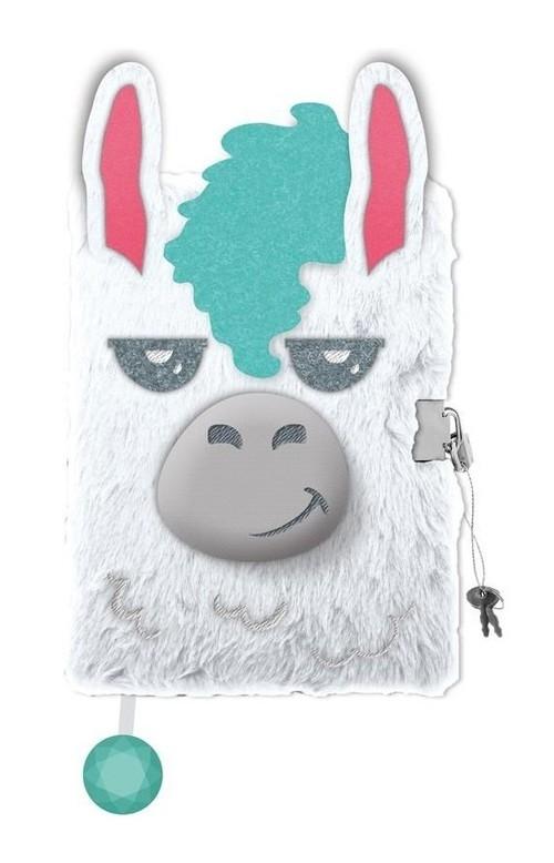 Pamiętnik z kłódką 3D włochacz A5, 96 kartek Lama