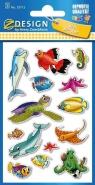 Naklejki papierowe. Zwierzęta morskie (55712)