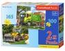 Puzzle 2w1 śmieciarka i traktor 165 i 300 elementów (021130)