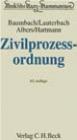 Zivilprozessordnung (ZPO) Kommentar Baumbach