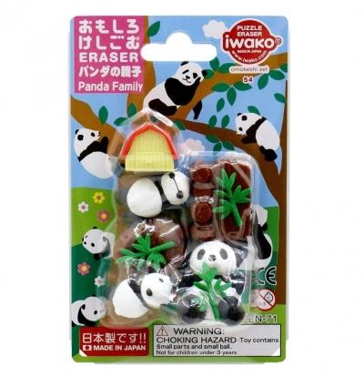 Zestaw gumek do ścierania - rodzina pand