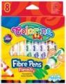 Flamastry jumbo zmywalne 8 kolorów