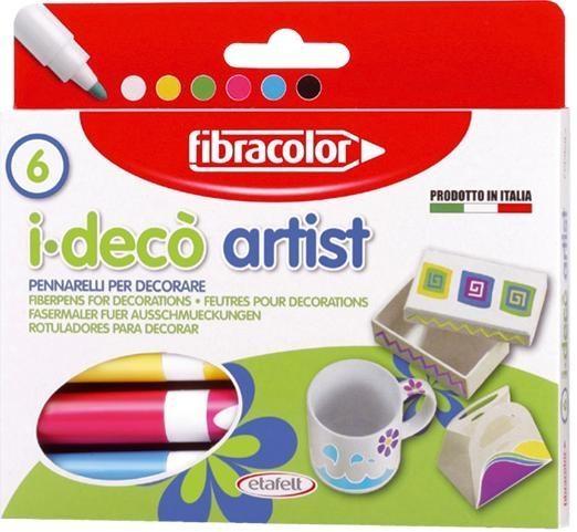 Mazaki I-deco Artist 6 kol. FIBRACOLOR