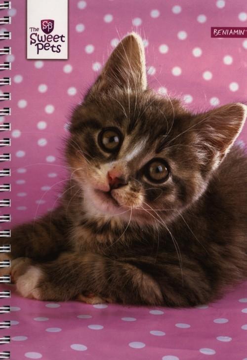 Kołobrulion A5 Sweet pets w kratkę 60 kartek mix wzorów (601813)