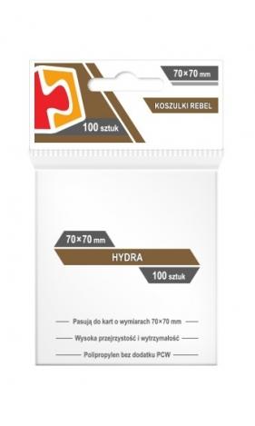 Koszulki na karty Rebel (70x70 mm) Hydra, 100 sztuk