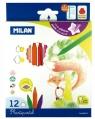 Kredki Milan PLASTIPASTEL, 12 kolorów w kartonowym opakowaniu (80013)