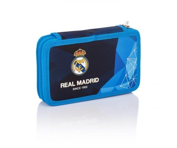 Piórnik podwójny z wyposażeniem Real Madrid