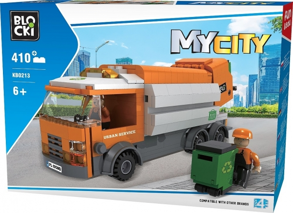 Klocki Blocki: MyCity - Śmieciarka 410 el. (KB0213)