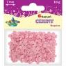 Cekiny okrągłe 7mm 10g - pastelowe różowe (304623)