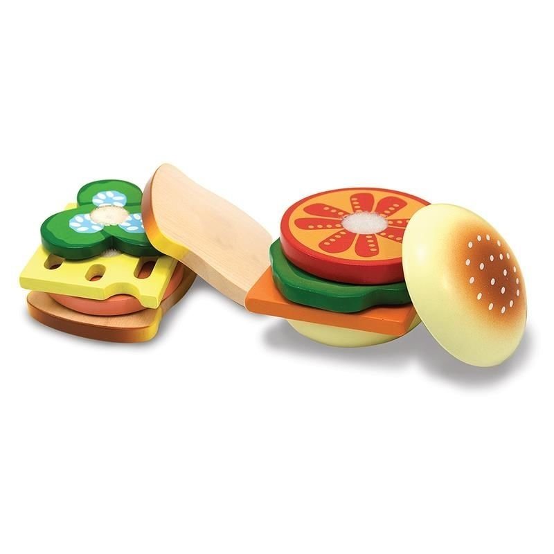 Drewniane jedzenie - zestaw do robienia kanapek (10513)