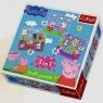 Świnka Peppa: Zabawy w szkole - puzzle 3w1 (34813)