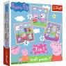 Puzzle 3w1: Świnka Peppa - Zabawy w szkole (34813)