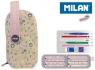 Multipiórnik MILAN owalny z 4 piórnikami BERRYWOOD róż08872BP