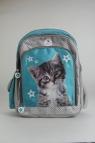 Plecak szkolny Sweet Pets Kot szaro-niebieski
