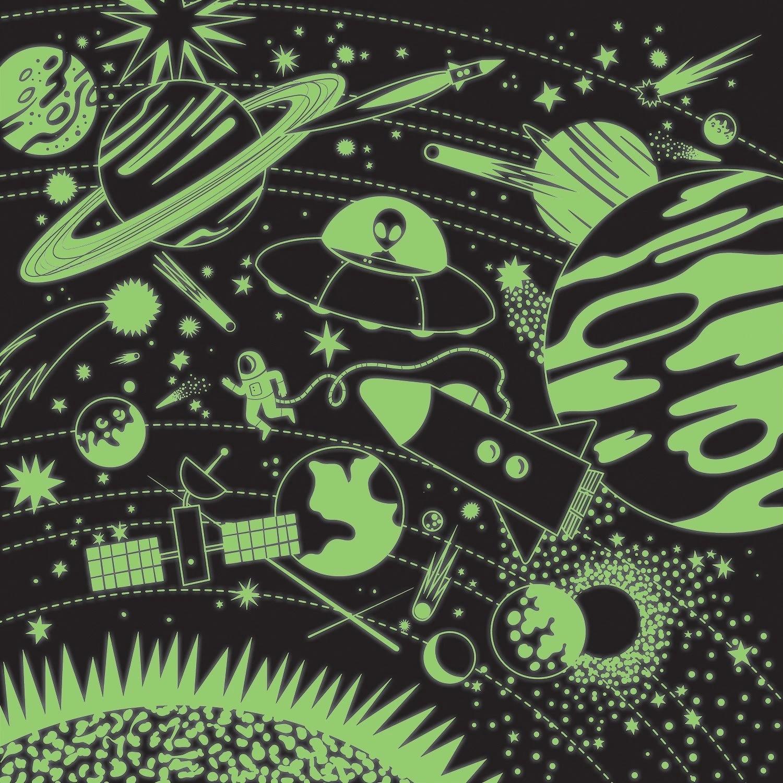 Mudpuppy, puzzle rodzinne, fluorescencyjne 500: Kosmos (MP61003)