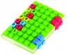 Notes silikonowy A6 Unipap Blocks w kratkę 100 kartek zielony