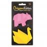 Origami Notes - karteczki samoprzylepne - Paw/Niedźwiedź