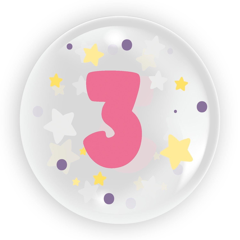 "Balon 45 cm - ""Cyfra 3"" różowy (TB 3613)"