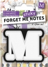 Forget me sticky - notes kart samoprzylepnych litera M