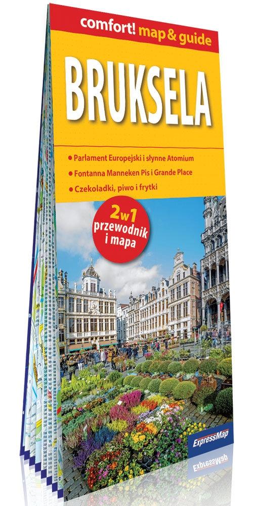 Bruksela 2w1: przewodnik i mapa