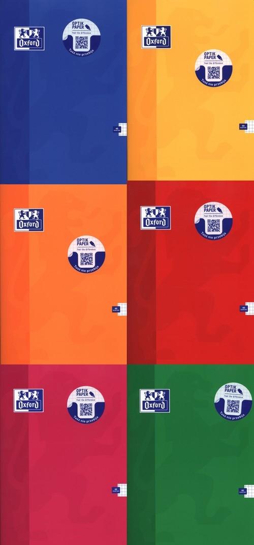 Zeszyt A4 Oxford w kratkę 60 kartek mix