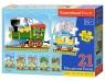 Puzzle edukacyjne Pociąg 21 elementów długość 117 cm (E135)