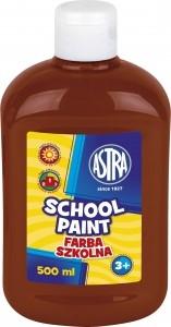 Farba szkolna 500 ml brązowa