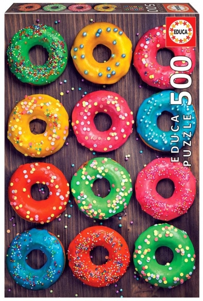 Puzzle 500 Kolorowe pączki G3
