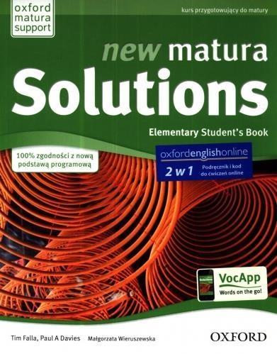 Matura Solutions NEW Elementary 2E SB & E-WB PL Tim Falla, Paul A. Davies