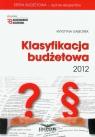 Klasyfikacja budżetowa 2012 z płytą CD Gąsiorek Krystyna