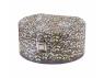 Pudełko tekturowe, szkatułka na biżuterię z lusterkiem 17x15,5x8cm Piórka