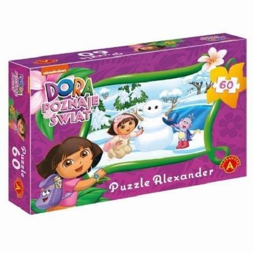 Puzzle 60 Dora poznaje świat Lepimy bałwana (Zgnieciony kartonik) (1113)