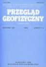 Przegląd Geofizyczny Kwartalnik Rocznik LIII 2008 zeszyt 3-4