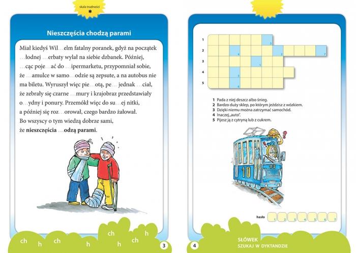Dyktanda z przysłowiami do klasy 1. Kolorowe ilustracje Marta Kurdziel