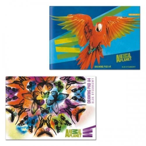Blok rysunkowy A4 Animal Planet 20szt