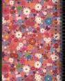 Kołozeszyt kwiaty-różowa okładka A4 linia z perforacją i 4 przekładkami