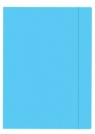 Teczka z gumką A4+ Fluo niebieska