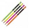 Ołówek trójkątny neon, mix.