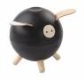 Drewniana skarbonka świnka,czarny, Plan Toys, PLTO-8613