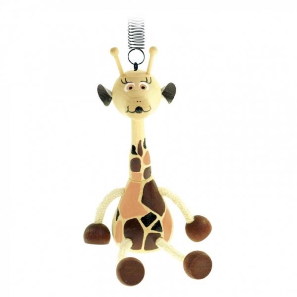 Drewniana przywieszka ze sprężyną-Żyrafa (90913)