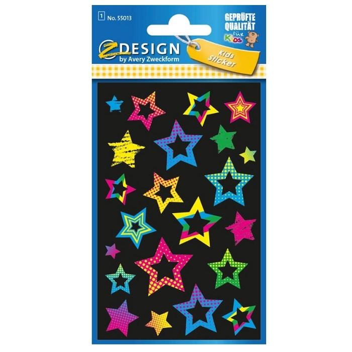 Naklejki dla dzieci NEONowe - Gwiazdy, foliowe (55013)